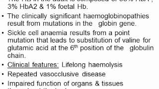 Types of Haemolytic Anaemia