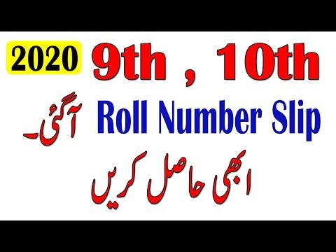 10th class roll number slip 2020 - matric class roll number slip 2020 - 9th roll number slip 2020