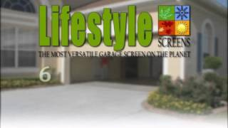 Lifestyle Garage Screen System Customizable Video
