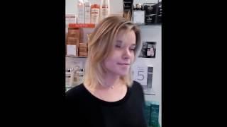 Калифорнийское мелирование на средний волос. Стрижка(Калифорнийское мелирование это открытая техника. Даёт многогранный цвет осветленных прядей http://balenn.ru/services/..., 2016-03-24T11:48:30.000Z)