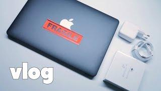 vlog4.  맥북 에어 2020 언박싱 하자마자 인케…