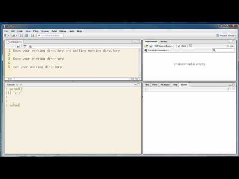 R - Knowing and Setting your working directory