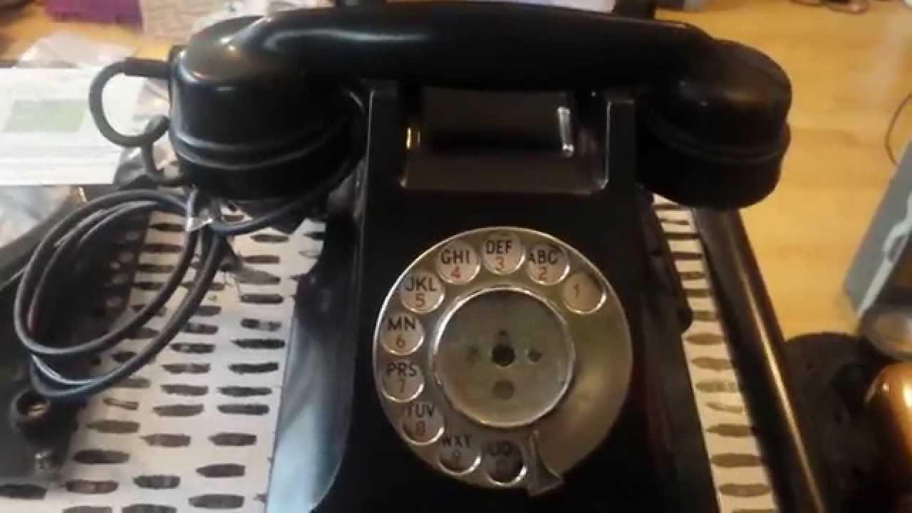 Retro Bt Gpo Telephone 300 Series Wire Conversion Bakelite Youtube