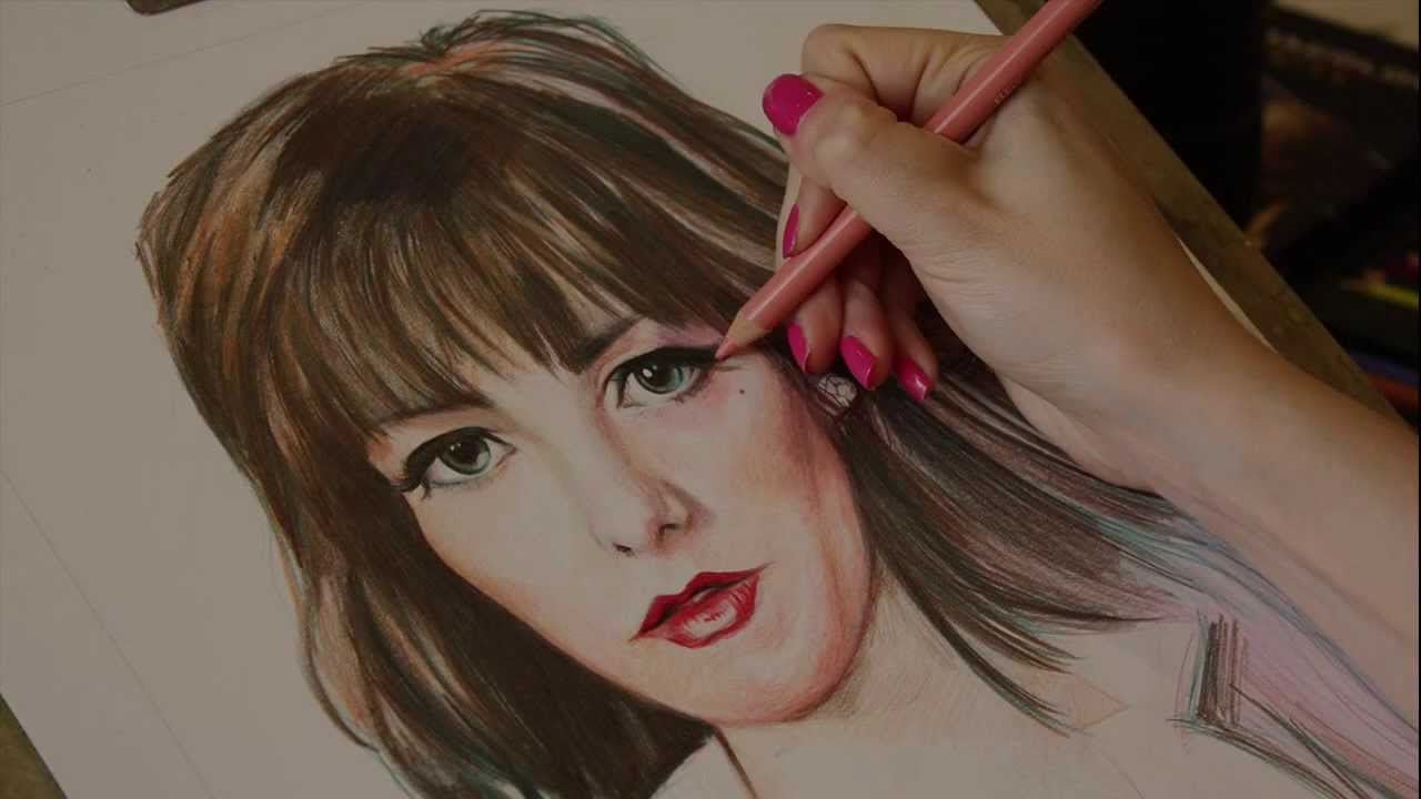 Colour pencil portrait speed drawing by lianne williams youtube