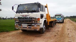 รีวิวรถสิบล้อบรรทุกรถแบคโฮ-hino-truck-22-สิงหาคม-ค-ศ-2018
