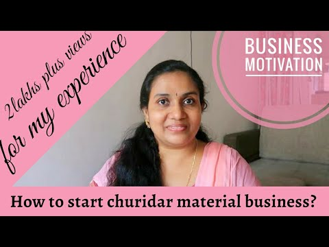 How To Start Churidar Material Sale From Home In Malayalam   My Experience