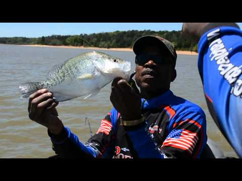 Tommie Roper....doing a Slider Commercial for the Crappie Minnow