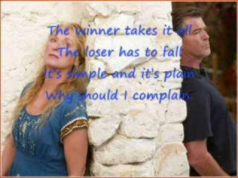 mamma mia lyrics: the winner takes it all