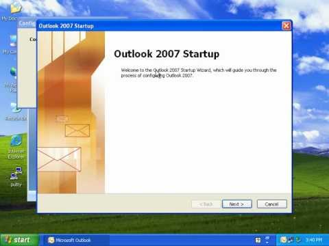 Microsoft Office Outlook 2007 Setting Up Pop3 Account Youtube