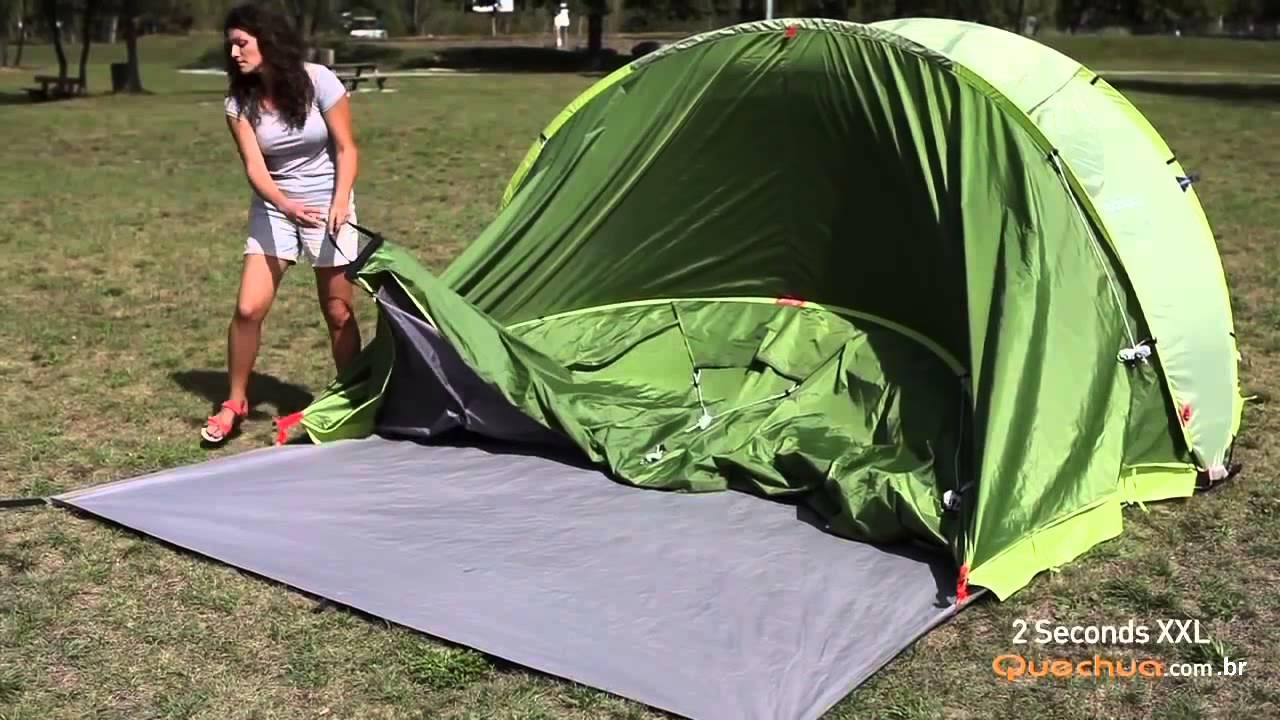 36c5a1266 Como montar a Barraca XXL 4 Quechua - Exclusividade Decathlon - YouTube