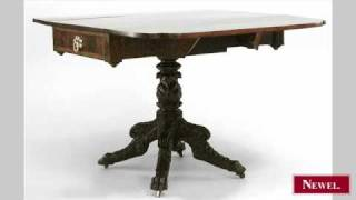 Antique American Federal Mahogany Pembroke Table With Re
