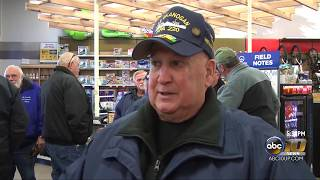 Flag raised in remembrance at Gander Outdoors
