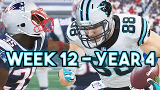 Madden 15 Panthers Connected Franchise - Week 12 @ Patriots - Season 4