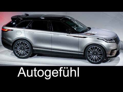 Range Rover Velar Reveal Preview: Exterior, development testing & interior feature