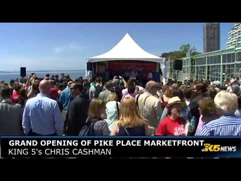 Pike Place Marketplace grand opening
