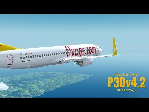 [P3Dv4.2] Kopenhag (EKCH) - Konya (LTAN) | PMDG 737ngx | PEGASUS AIRLINES | VATSIM