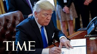 President Trump Signs Order To Send Americans Back To The Moon With Vice President Pence | TIME thumbnail