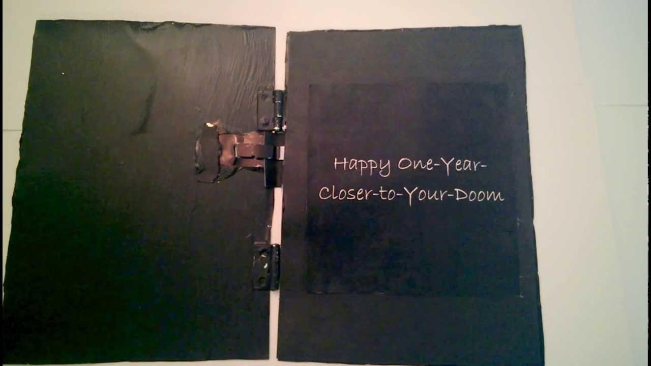 black metal birthday card