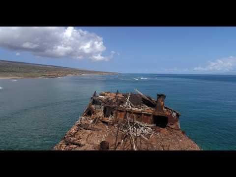 Lanai Shipwreck 4K 60fps