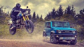 Off-road Race Suzuki Jimny Vs Triumph Scrambler  Top Gear