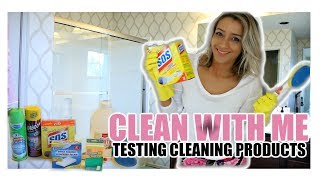 CLEAN WITH ME 2018 | TESTING CLEANING PRODUCTS SUBSCRIBERS RECOMMENDED