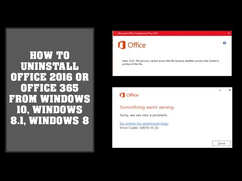 How To Uninstall Office 2016 Office 365 On Windows 10 Windows 8 Computer