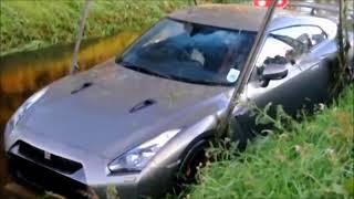 ULTIMATE NISSAN GT R DRIVING FAILS, EPIC GT R CRASH COMPILATION