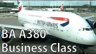 british airways business class a 380 airbus from london to san francisco