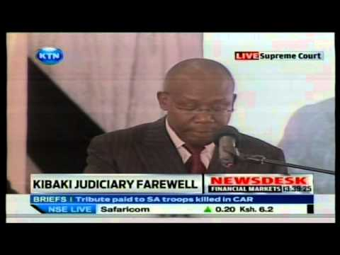 Kenya Attorney General Githu Muigai Speech - Kibaki send off