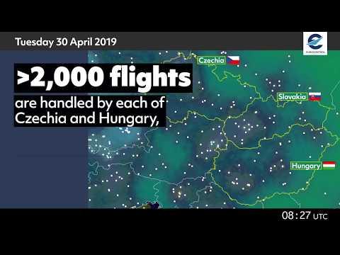 Air traffic situation over Czechia, Hungary and Slovakia - 28 April 2020 vs 30 April 2019