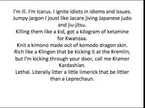 Alphabet Insanity Mac Lethal REQUEST!