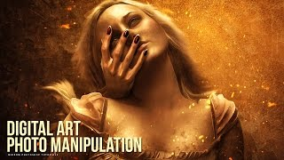 Create a Surreal Leaning On Hand Digital Art Photoshop Tutorial