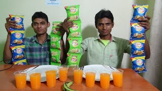 Lays Chips & Frooti Competition | Potato Chips eating Challenge | Food Challenge India