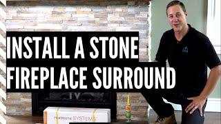 Installing Fireplace Stone (Ledgestone by Realstone System)