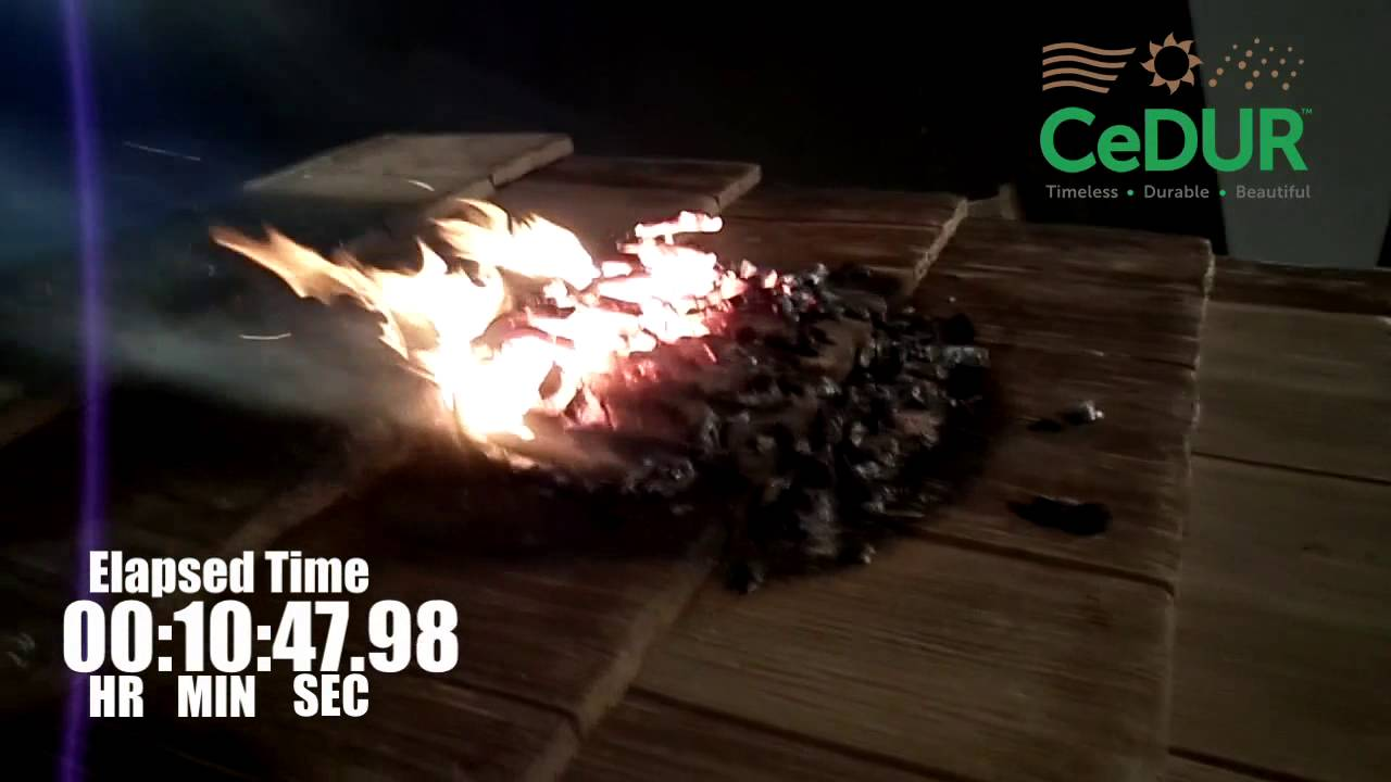 Class A Fire Rating Burn Test Youtube