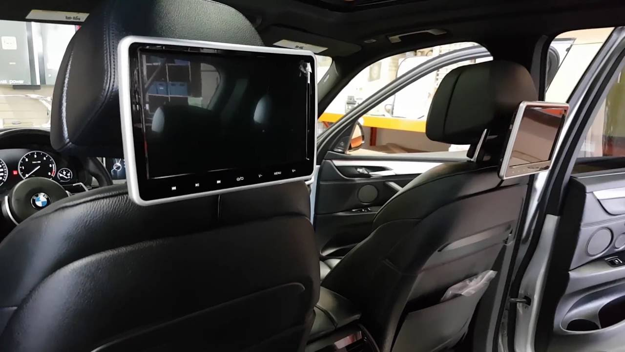 2X10 Car DVD Players Piggyback Headrest 2015 BMW X5 YouTube
