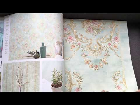 A46-10 Interior Decoration Noble Floral Design Non-Woven Embossed Wallpaper