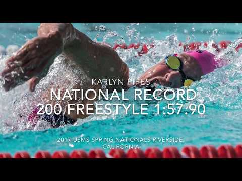 Karlyn Pipes - 200-yard Freestyle USMS National record 55-59 age-group 1:57.90