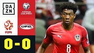 Österreicher verpassen Tabellenführung: Polen - Österreich 0:0 | EM Quali | DAZN Highlights
