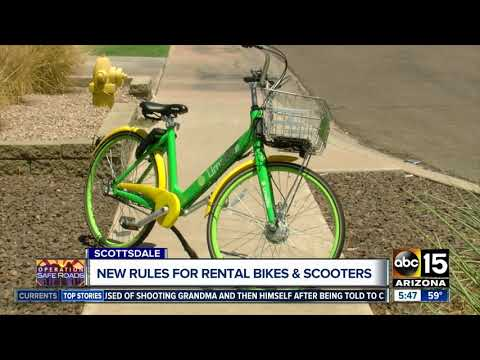 Scottsdale is looking into new rules for rental bikes and scooters