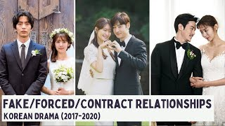 [Top 10] Fake/Forced/Contract Relationships in Korean Dramas [KDrama List: 2017 - 2020]
