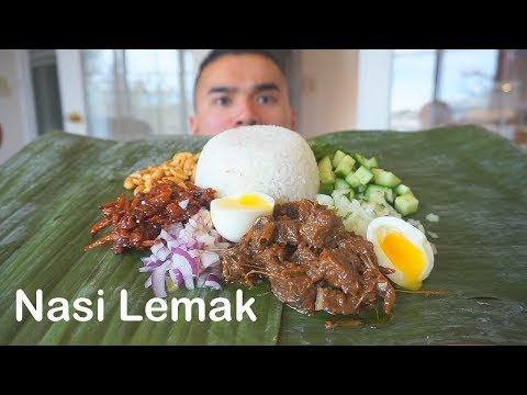 Nasi Lemak | Malaysian & Indonesian Fragrant Rice | MUKBANG