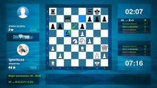 Chess Game Analysis: ignottuss - ابو عمر الحموي : 1-0 (By ChessFriends.com)