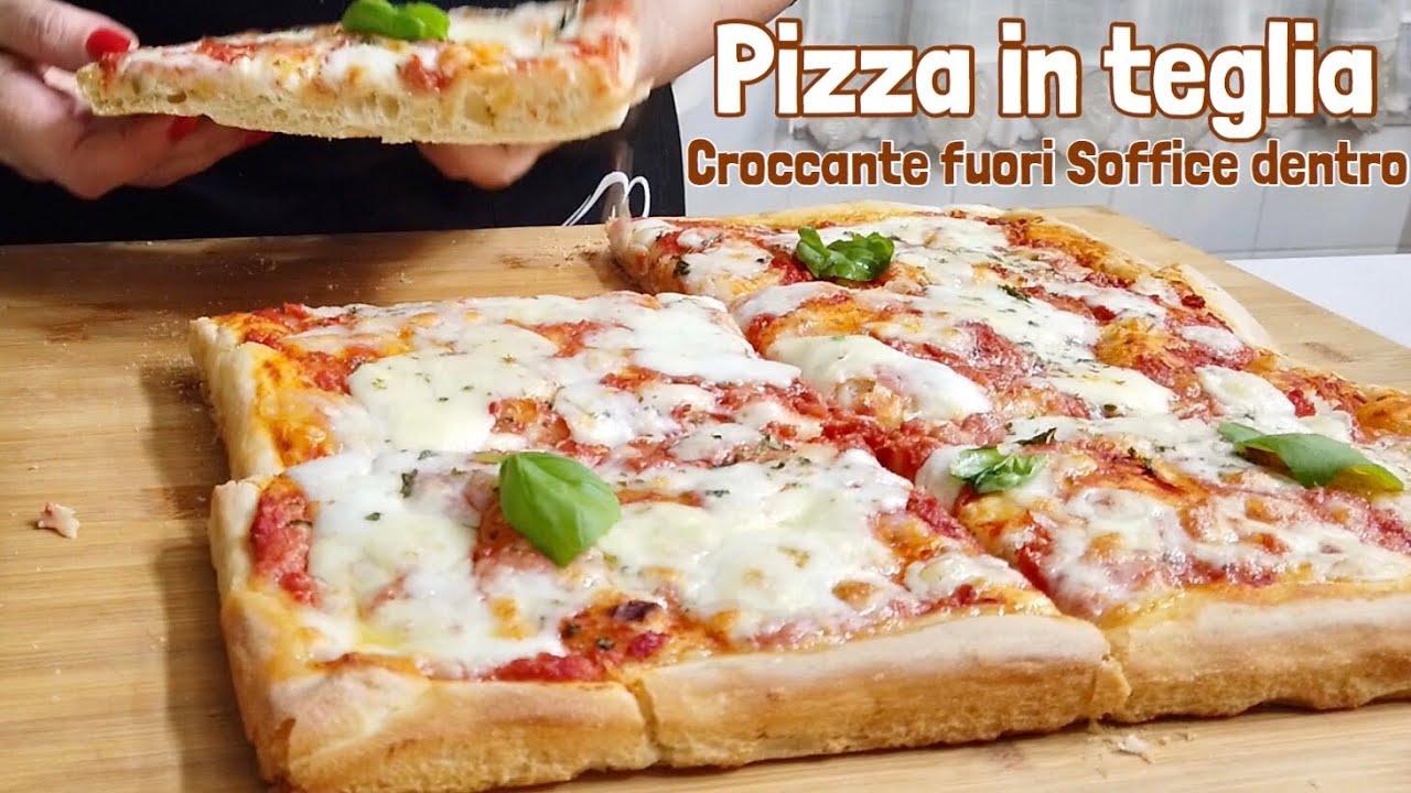Ricetta Pasta X Pizza Morbida.Pizza In Teglia Croccante Fuori Morbida Dentro Ricetta Perfetta Crispy Pizza Outside Soft Inside Youtube