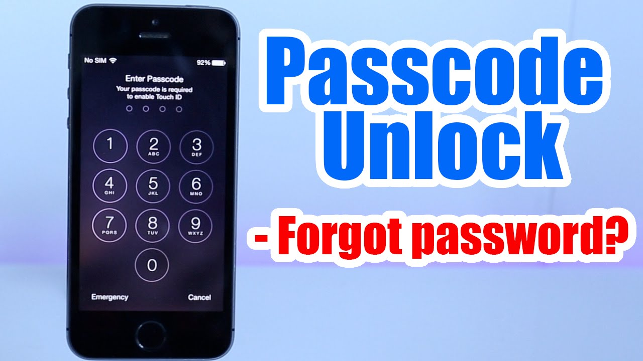 how to unlock iphone 4 without password passcode unlock iphone 5 5s 5c 6 6 plus 4s 4 20438