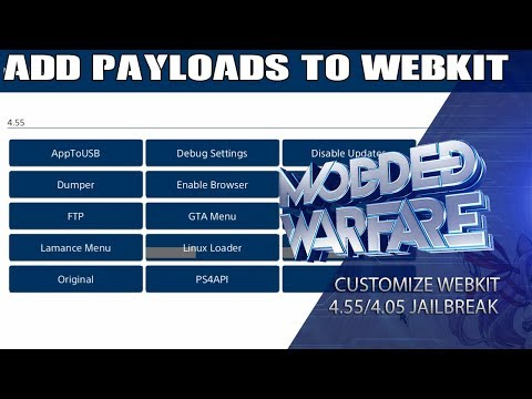 How to add Custom Payloads to your WebKit (4.55/4.05 Jailbreak)