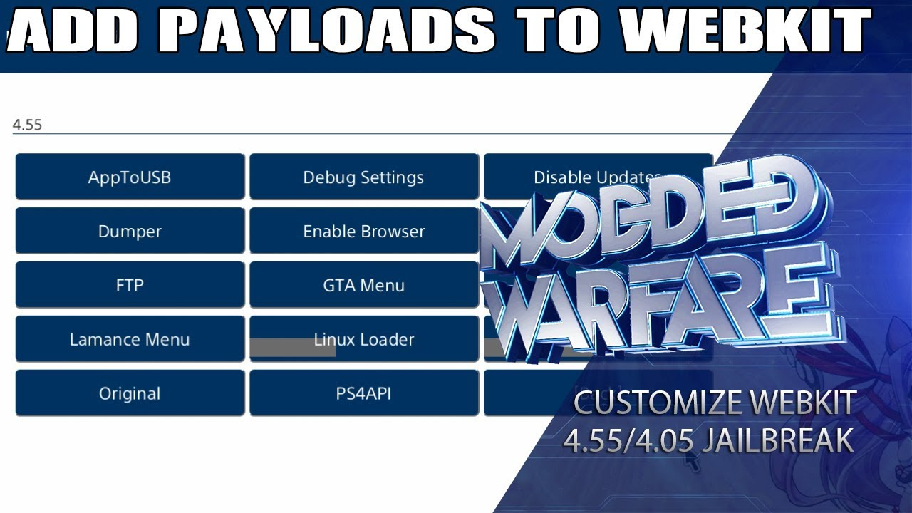 How to add Custom Payloads to your WebKit (4 55/4 05 Jailbreak)