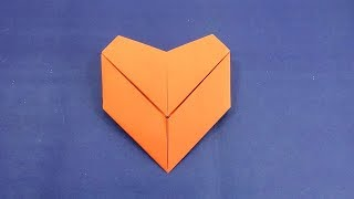 Origami Letter Fold Heart Tutorial - Paper Crafts