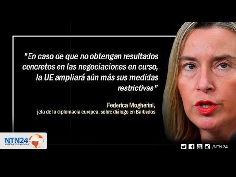 Unión Europea: si no hay acuerdos en Barbados vendrán más sanciones para el régimen de Maduro