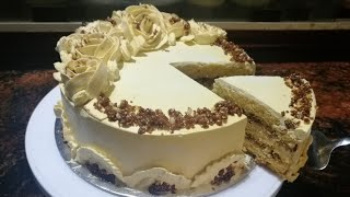 Butterscotch cake recipe  how to make butterscotch cake at home   homemade caramel cake recipe